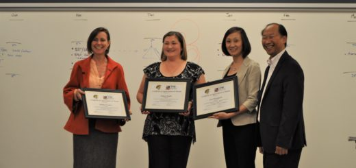 MUSD Representatives present certificates of appreciation to Comcast Representative Nadya Smith