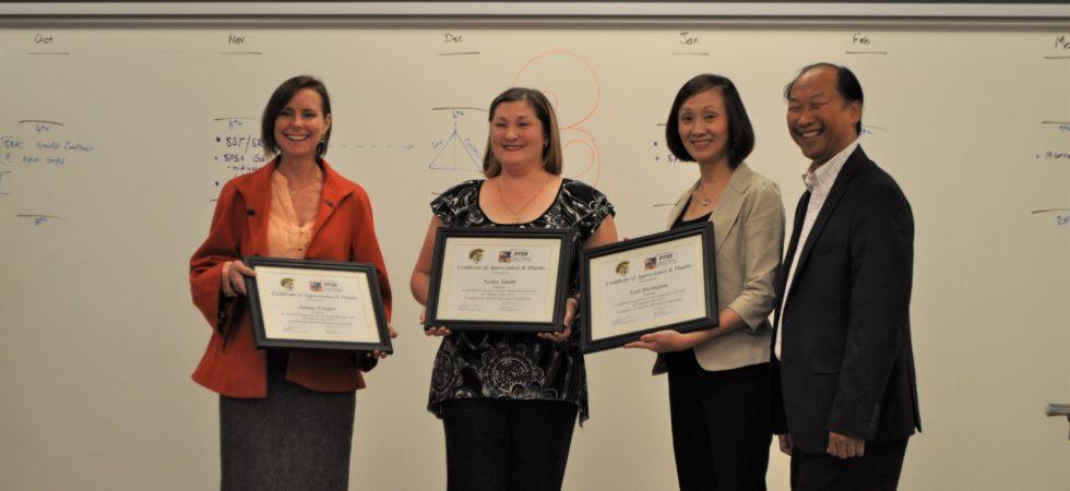 MUSD Representatives present certificates of appreciation to Comcast Representative Nadya Smith